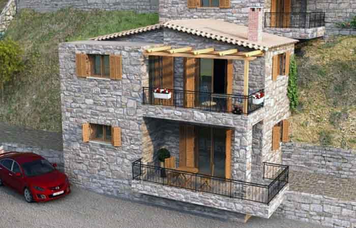Πέτρινη μονοκατοικία στη Σάντοβα Καλαμάτας
